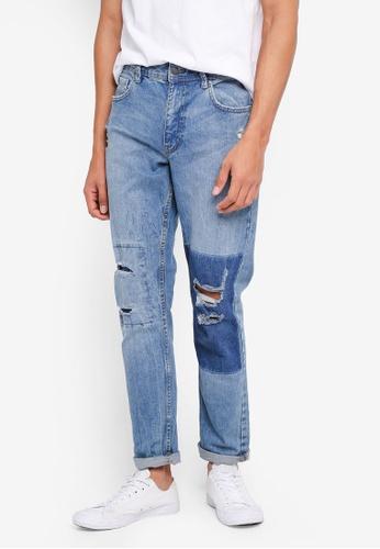 Cotton On blue Tapered Leg Jeans 1213FAADADB2F0GS_1