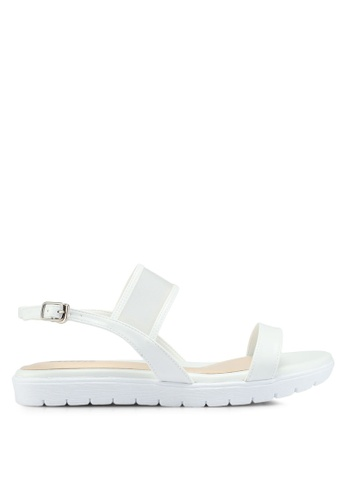 Bata white Double Strap Sandals B0C5FSH8C63A5DGS_1