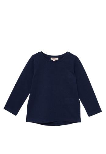 Du Pareil Au Même (DPAM) navy Plain Long Sleeve T-shirt A5354KA3B11015GS_1