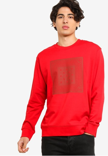 Calvin Klein 紅色 Relaxed LOGO圓領Pullover 39EEEAACB716FDGS_1