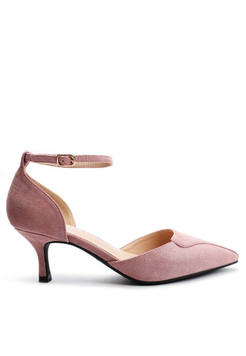 Twenty Eight Shoes 尖頭絨面高踭鞋165-5 787E2SH14AFFFEGS_1
