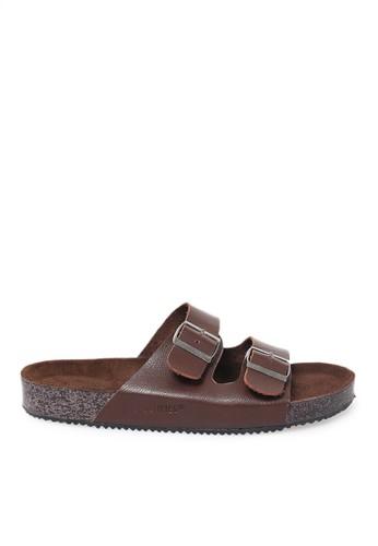Tendencies brown Tendencies Sandals FOOTBED 2 STRAP BROWN 679B8SHD61414AGS_1