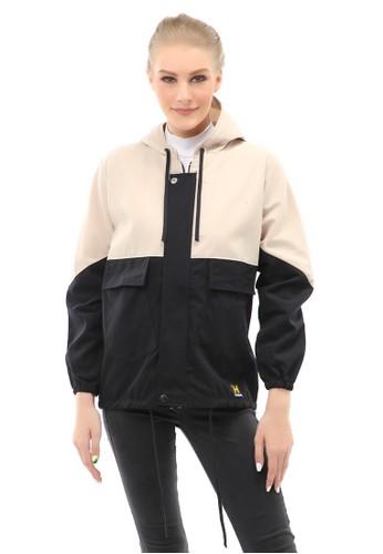 Hamlin black Hardwin Jaket Parka Combo Jacket Outer Wanita Fashionable Material Baby Canvas ORIGINAL - Black 6C256AA0C4D230GS_1