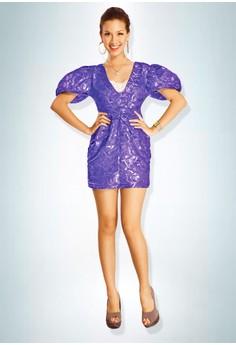 Devidasi Purple Ultra Opulent Cocktail Dress