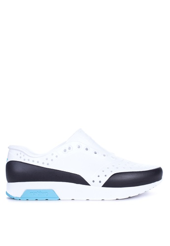Native white Lennox Block Sneakers NA764SH25ZLQPH_1