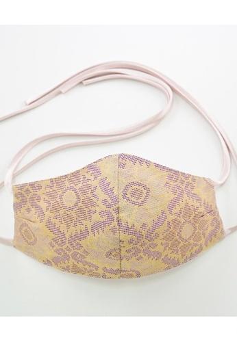 Bewa beige Tie Back - Songket Mask (Sand) D61E5ES1415309GS_1