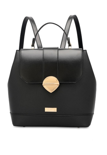 PLAYBOY BUNNY black Structured Flap Backpack B5281ACFDF348FGS_1