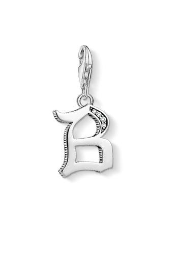 "THOMAS SABO silver Charm pendant ""letter B silver"" 4E852AC3DFEE71GS_1"