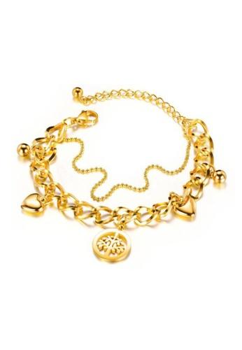 CELOVIS gold CELOVIS - Willow Symbolic Tree of Strength Pendant Bracelet in Gold 5742EACEE78AACGS_1
