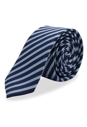 Arden Teal blue Sao Joao Skinny Silk Tie EB6F3AC51DDD01GS_1