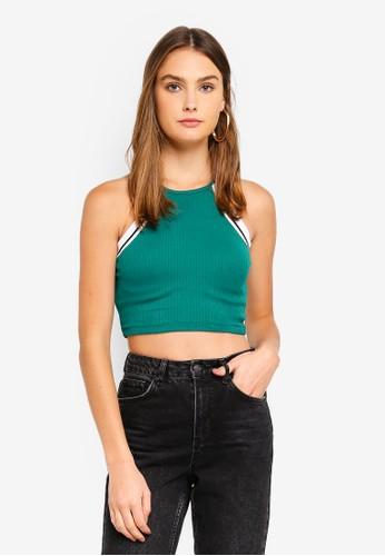 TOPSHOP green Raya Halter Vest A0228AAF420D11GS_1