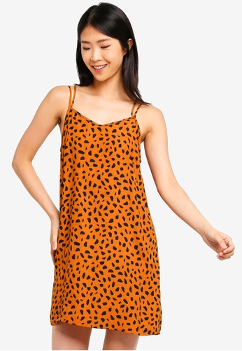 ZALORA BASICS multi Basic Double Straps Cami Dress 6033EAA1E47317GS_1