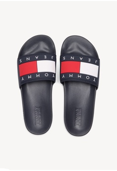 344a67a29d1d9 Tommy Hilfiger Tommy Jeans Flag Pool Slide S  99.00. Sizes 41
