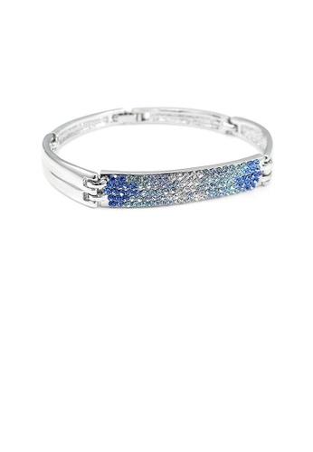 Glamorousky blue Elegant Bangle with Blue Austrian Element Crystal E5D9AACA2707C2GS_1
