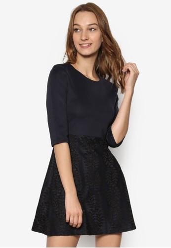 五分袖蕾絲傘擺連身裙, 服esprit hk outlet飾, 洋裝