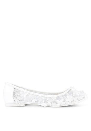 VINCCI white 3D Florals Ballerinas VI831SH0S51NMY_1