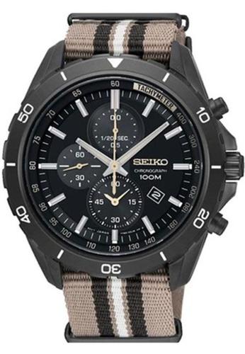Seiko multi Seiko Criteria Grey and Brown NATO Watch 80131ACC8ABC10GS_1
