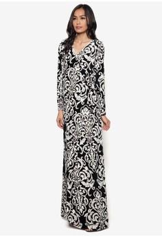 Kimono Velvet Wrap Dress