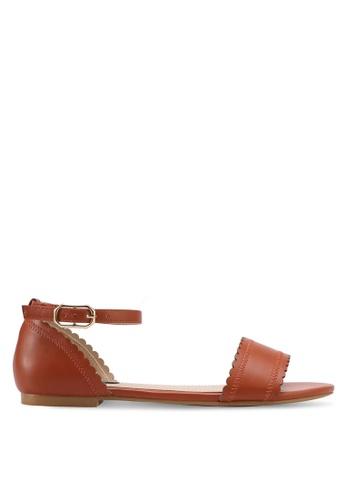 ZALORA brown Ankle Strap Sandals 2C2A7SH2843B8BGS_1