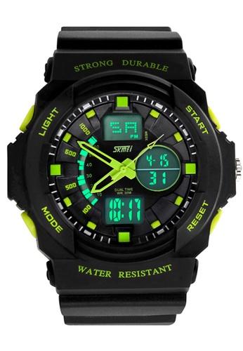 Skmei green SKMEI 0955 Men's LED Analog Digital Alarm Sport Watch (Green) SK707AC0RXCQMY_1
