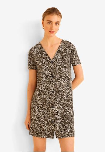 cf7c577622 Shop MANGO Buttoned Printed Dress Online on ZALORA Philippines