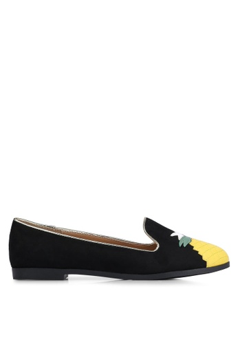 Velvet black Pineapple Loafers E99DESHC5967CFGS_1