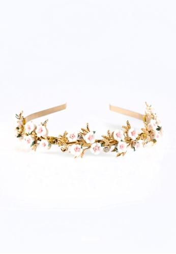 Limkokwing Fashion Club white White Floral Headband LI086AC40VBVMY_1