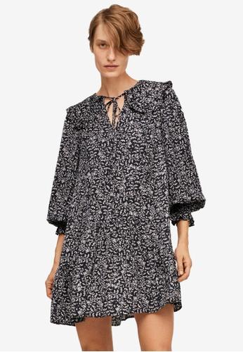 Mango black Baby Doll Printed Dress E3358AAD8135A6GS_1