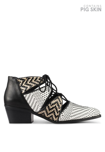 E8 by Miista black and white Cyrene Weave Heels E8283SH0STIJMY_1