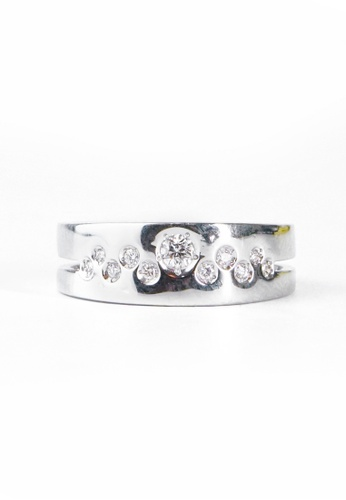 CEBUANA LHUILLIER JEWELRY silver 18 Karat White Gold Lady Ring With Diamonds 5AAD7ACCFD9677GS_1