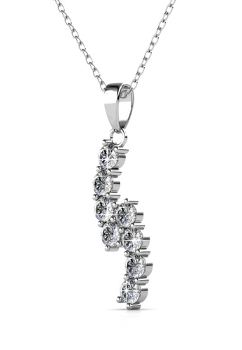 Her Jewellery silver Swarovski® Crystals - Serene Pendant (18K White Gold Plated) Her Jewellery 49DB0ACF137D1CGS_1