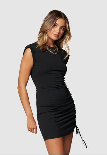 Forever New black Roxi Extended Sleeve Mini Dress DB34AAA33035C1GS_1
