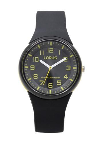 Lorus black LORUS Jam Tangan - Black Yellow - Silicon - RRX49DX9 9E81EACB376718GS_1
