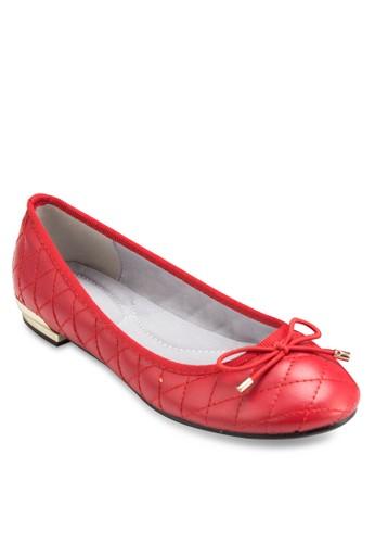 蝴蝶結菱格紋低跟鞋, 女鞋, 厚底esprit台灣outlet高跟鞋