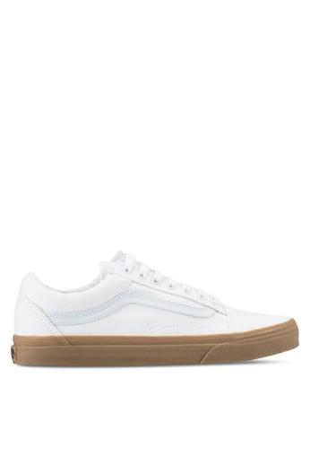 VANS white Old Skool Canvas Gum Sneakers VA142SH0SWQXMY_1