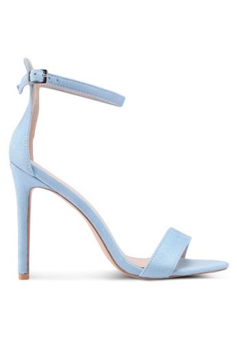 Public Desire 藍色 一字帶繞踝高跟鞋 F1AA0SH1F30A25GS_1