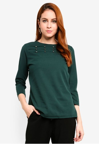 peace collections green Cut Out Blouse B0624AA3B8F0FCGS_1