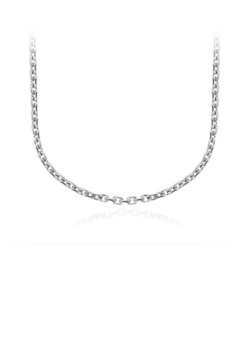 Glamorousky silver Fashion Simple 316L Stainless Steel Necklace D7306AC0982857GS_1