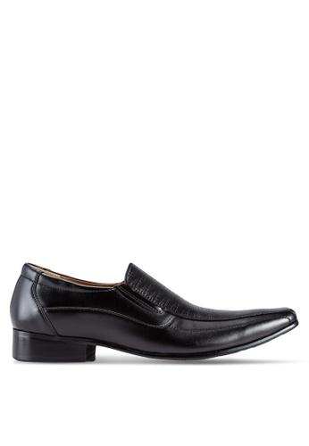 Frank Williams black Leather Dress Shoes FR169SH40KGXMY_1