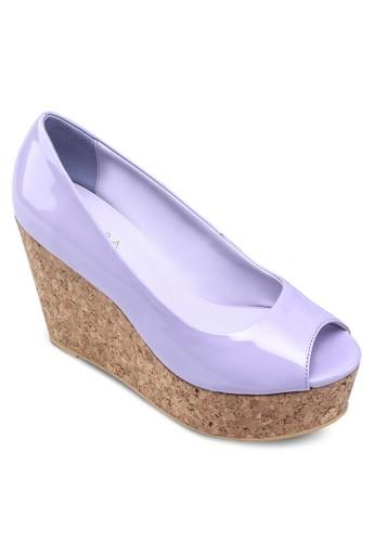 厚底魚口鞋,zalora 心得 女鞋, 魚口楔形鞋