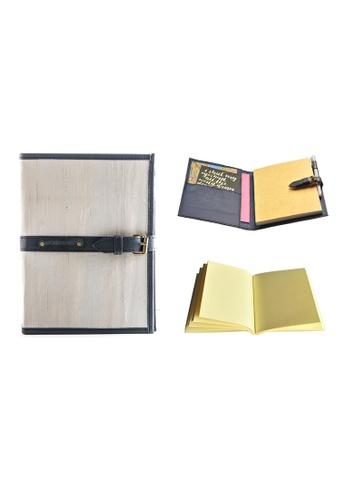 Jacinto and Lirio grey Pacem II Medium Blank Refillable Vegan Leather Journal CF1FCHL623BECFGS_1