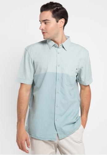 Watchout! Casual blue Short Sleeve Shirts 154 WA972AA0UCE6ID_1