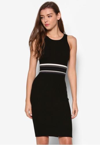 Correa 羅紋貼身連身裙、 服飾、 洋裝MDSCollectionsCorrea羅紋貼身連身裙最新折價