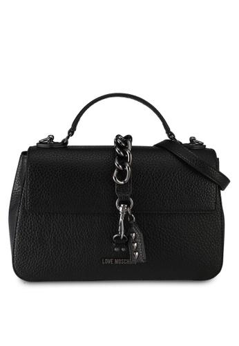 Love Moschino black LOVE MOSCHINO Borsa Grain Top Handle Bag LO478AC0SXWMMY_1
