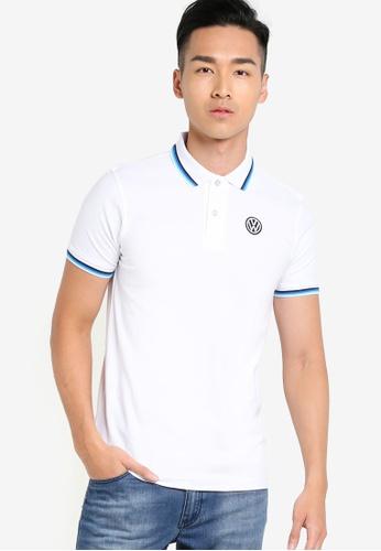 Volkswagen white Basic Polo Shirt VO089AA24JLJMY_1