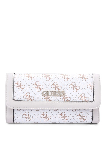 Guess white Washington Sling Multi Clutch Wallet DFBDAAC42A0EE1GS_1