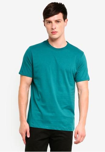 Topman 藍色 經典素色T恤 8818AAA0CD22D5GS_1