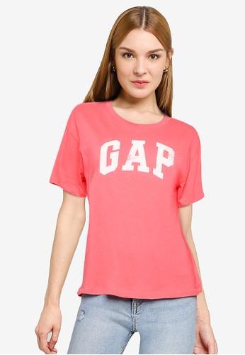 Gap pink Logo Easy Heavyweight T-Shirt 2D86BAA3FA0259GS_1
