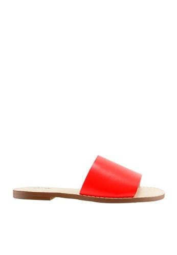 eq:iq red eqSTACEY Classic Flat Sandals EQ351SH12XRJSG_1