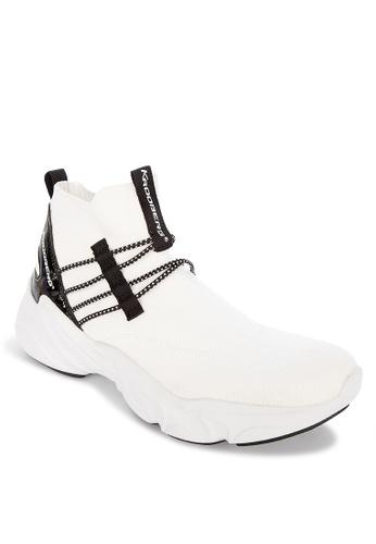 Krooberg white Krooberg Shox2 Black Sneakers EE9AFSHF9020E9GS_1